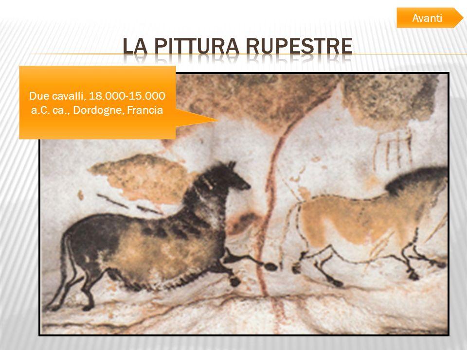 Due cavalli, 18.000-15.000 a.C. ca., Dordogne, Francia