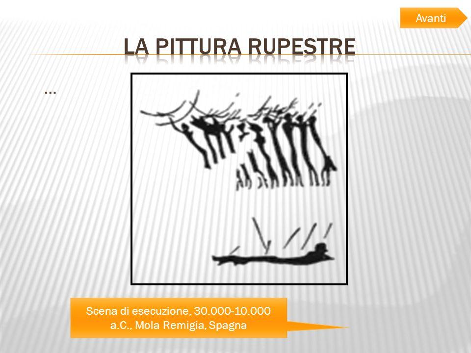Scena di esecuzione, 30.000-10.000 a.C., Mola Remigia, Spagna