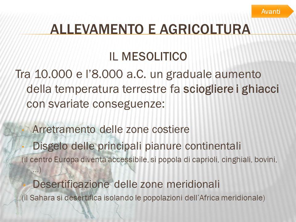 ALLEVAMENTO E AGRICOLTURA