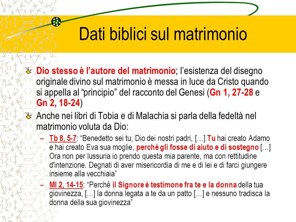 Dati biblici sul matrimonio