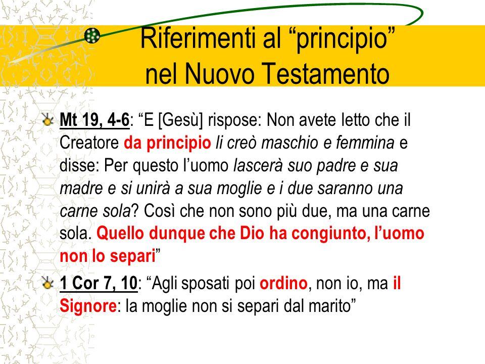 Riferimenti al principio nel Nuovo Testamento