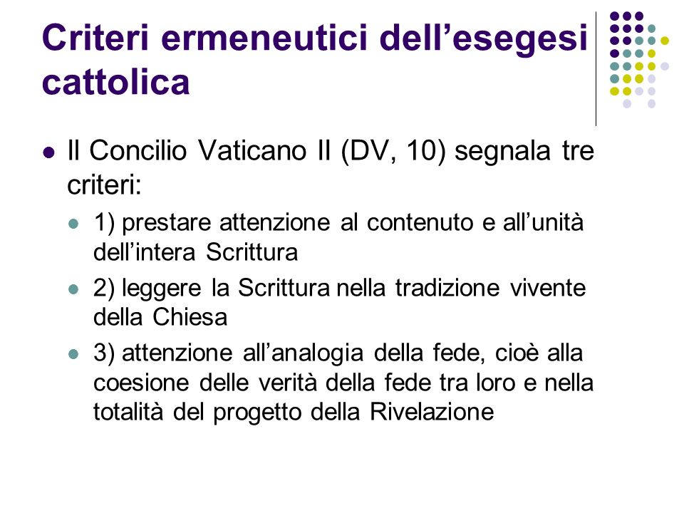 Criteri ermeneutici dell'esegesi cattolica