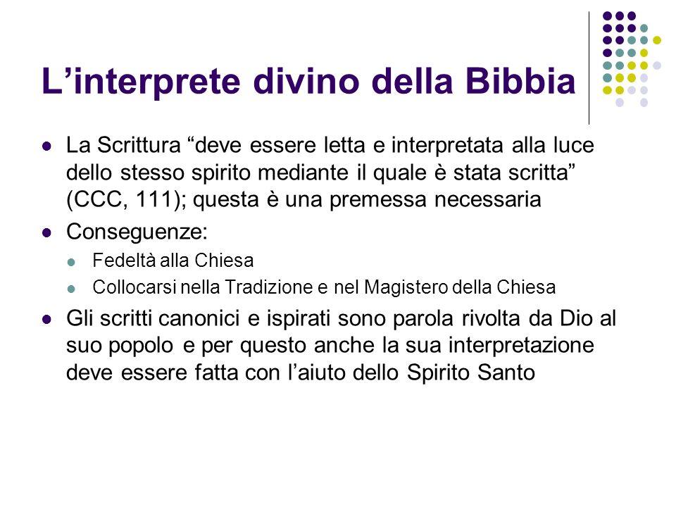 L'interprete divino della Bibbia