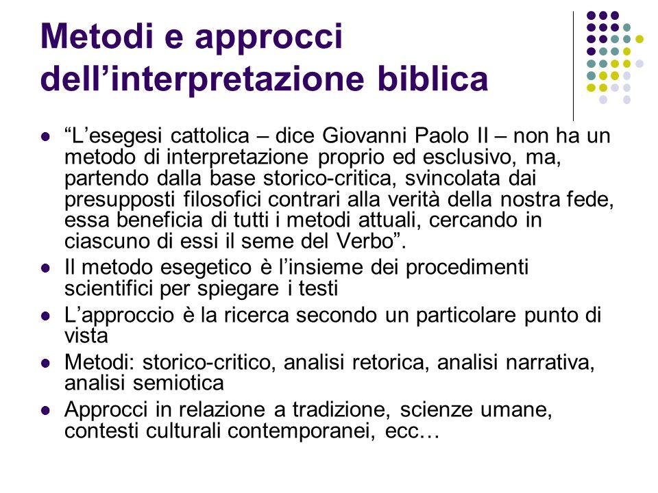 Metodi e approcci dell'interpretazione biblica