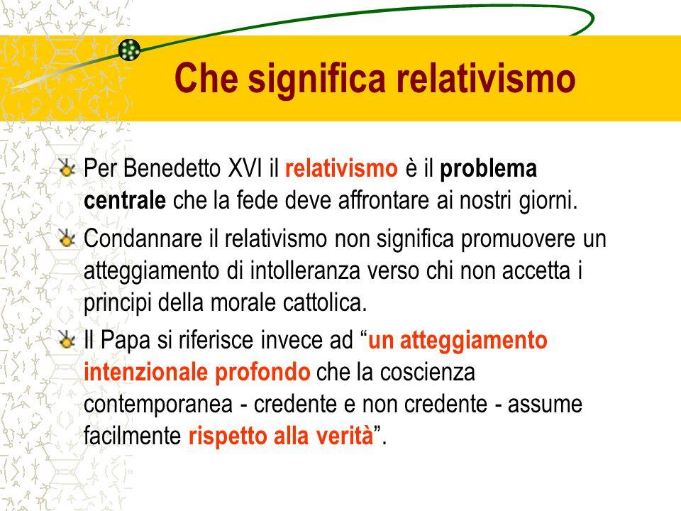 Che significa relativismo