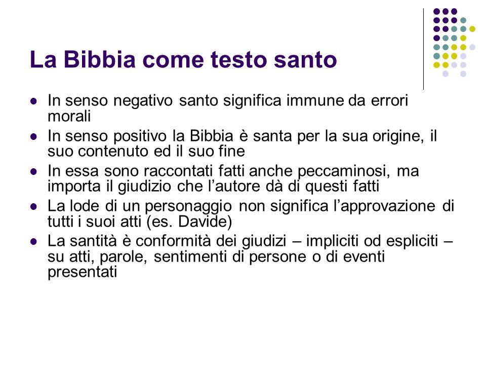 La Bibbia come testo santo