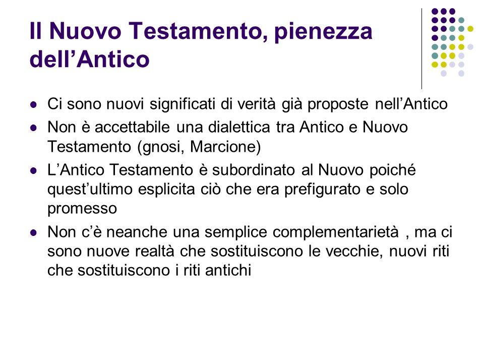 Il Nuovo Testamento, pienezza dell'Antico