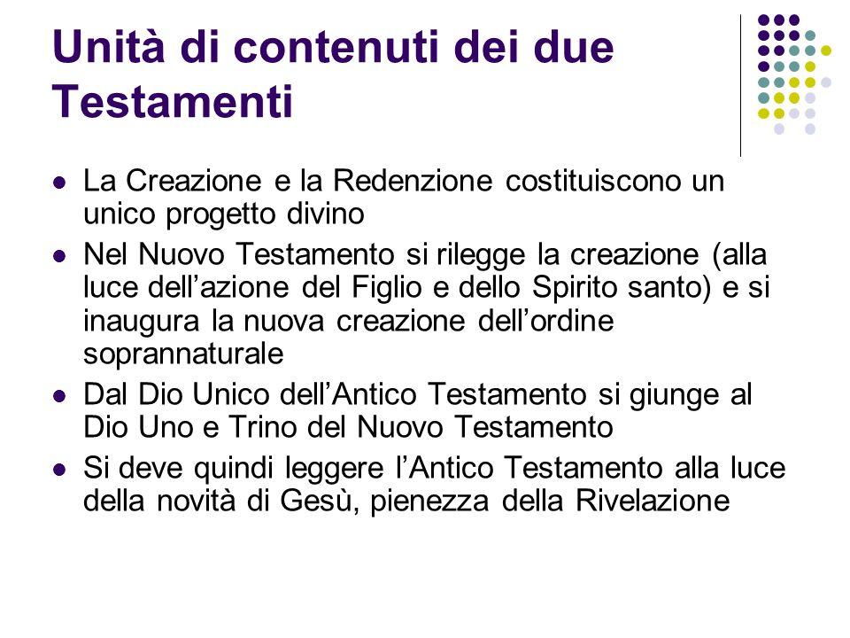 Unità di contenuti dei due Testamenti