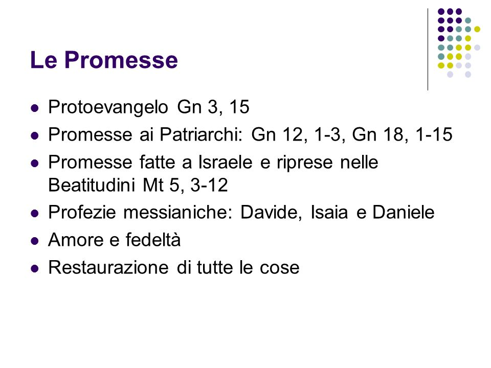 Le Promesse Protoevangelo Gn 3, 15