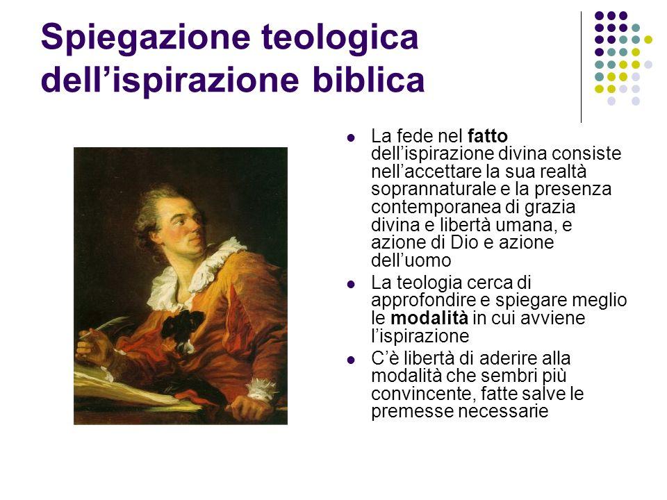 Spiegazione teologica dell'ispirazione biblica