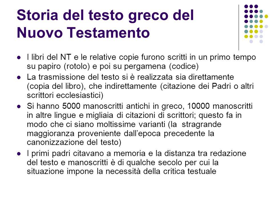 Storia del testo greco del Nuovo Testamento