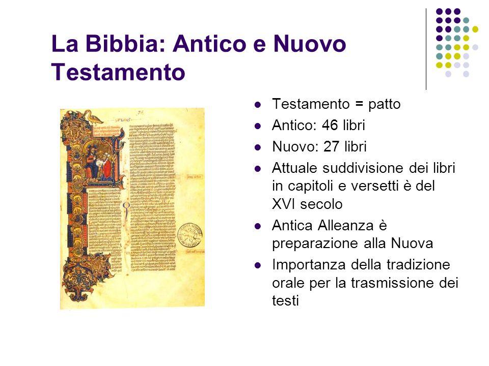 La Bibbia: Antico e Nuovo Testamento