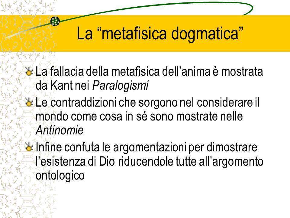 La metafisica dogmatica