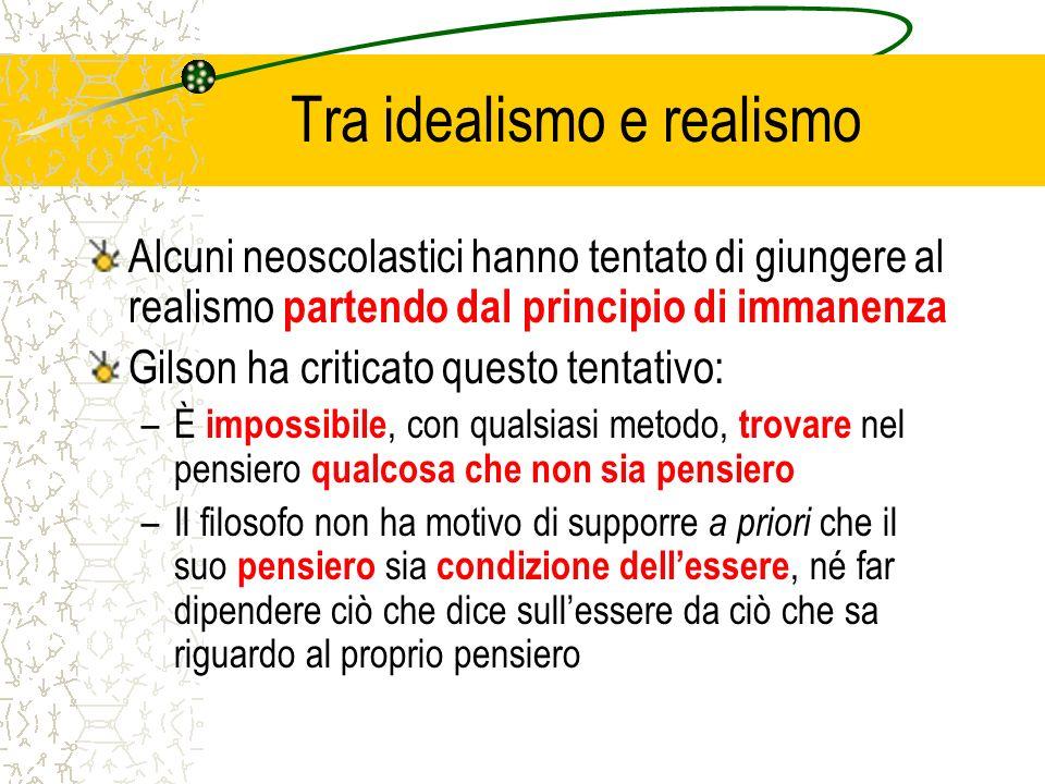 Tra idealismo e realismo