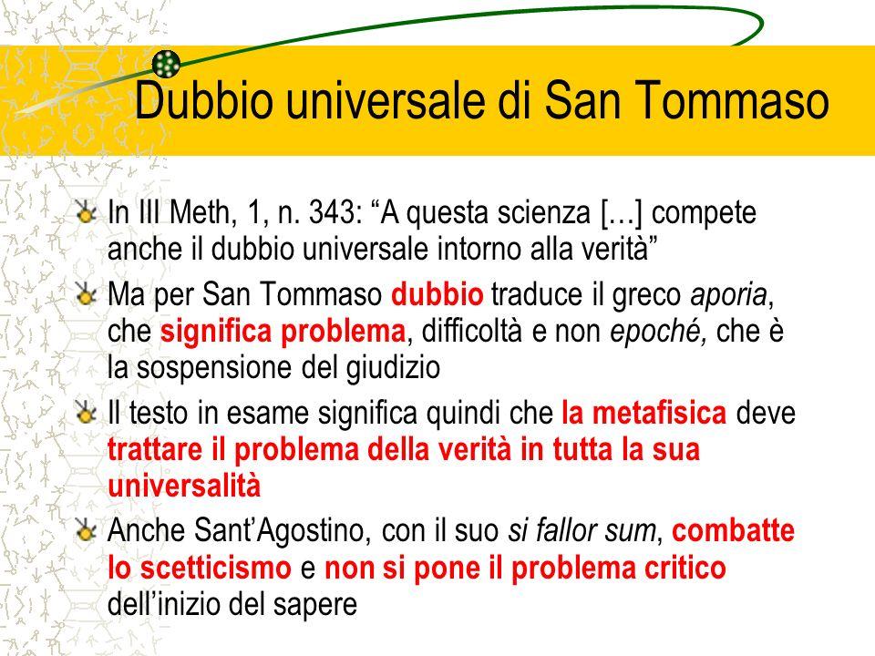 Dubbio universale di San Tommaso