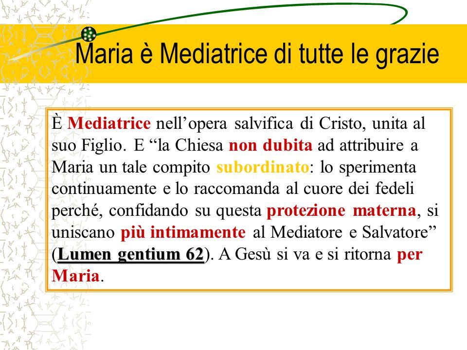 Maria è Mediatrice di tutte le grazie