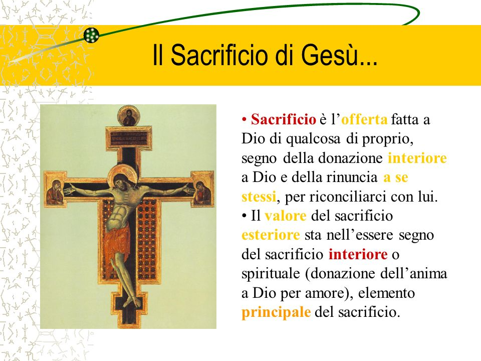 Il Sacrificio di Gesù...