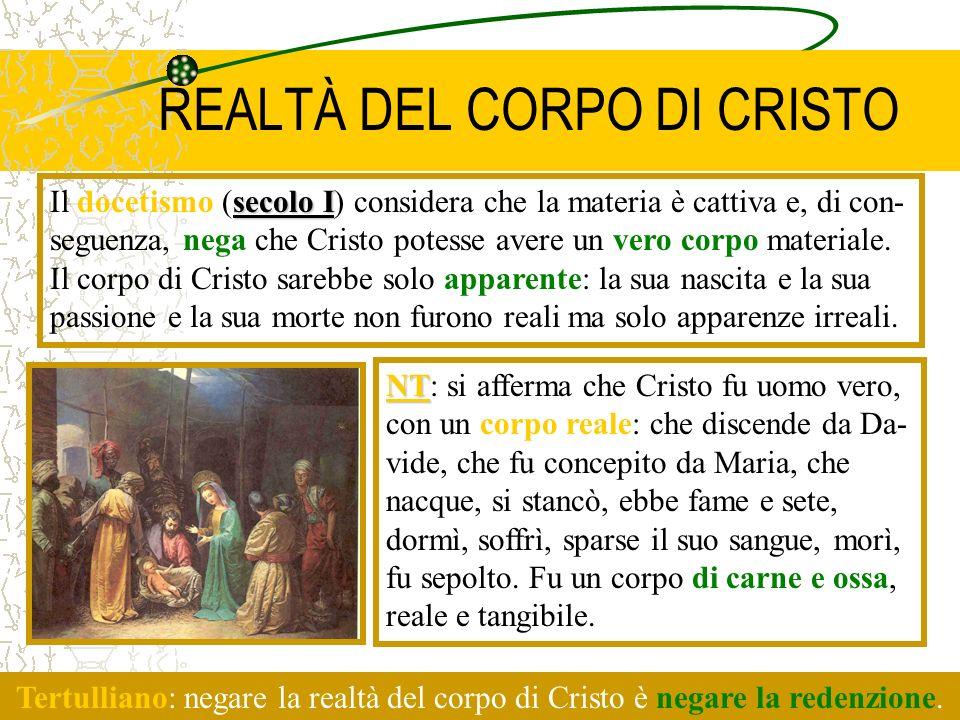 REALTÀ DEL CORPO DI CRISTO