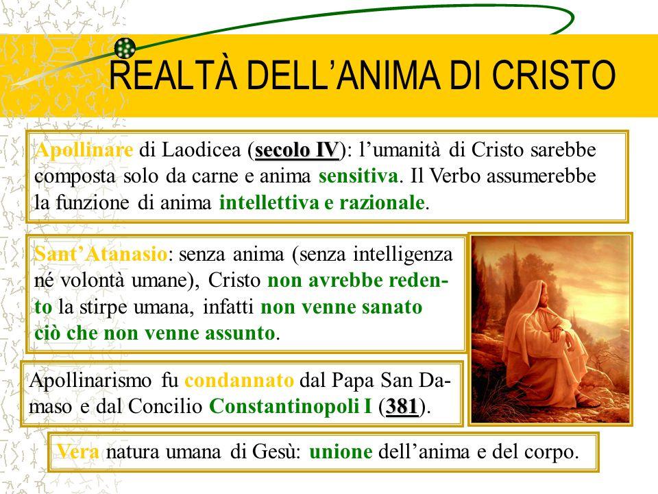 REALTÀ DELL'ANIMA DI CRISTO