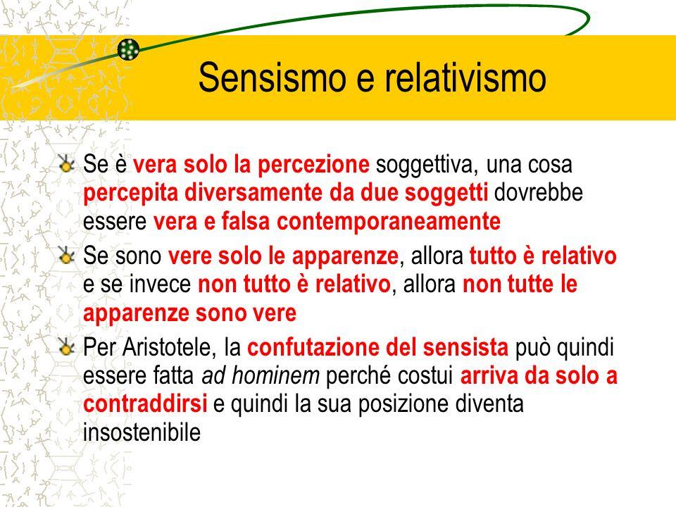 Sensismo e relativismo