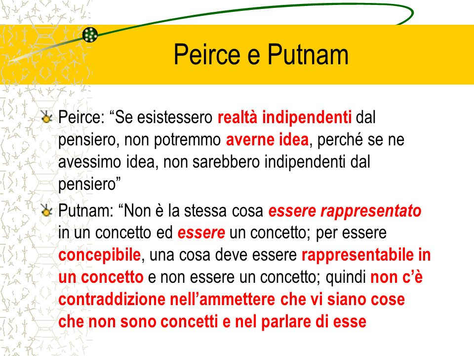 Peirce e Putnam