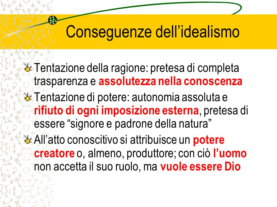 Conseguenze dell'idealismo