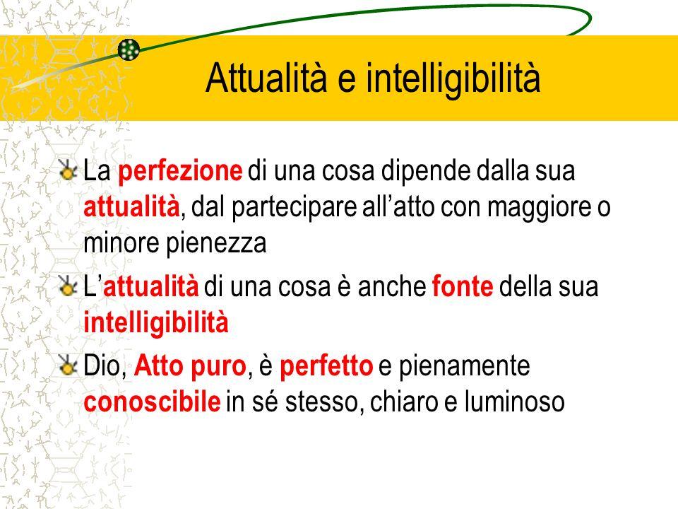 Attualità e intelligibilità