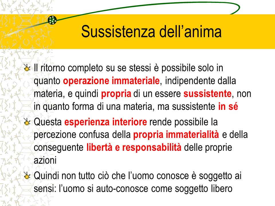 Sussistenza dell'anima
