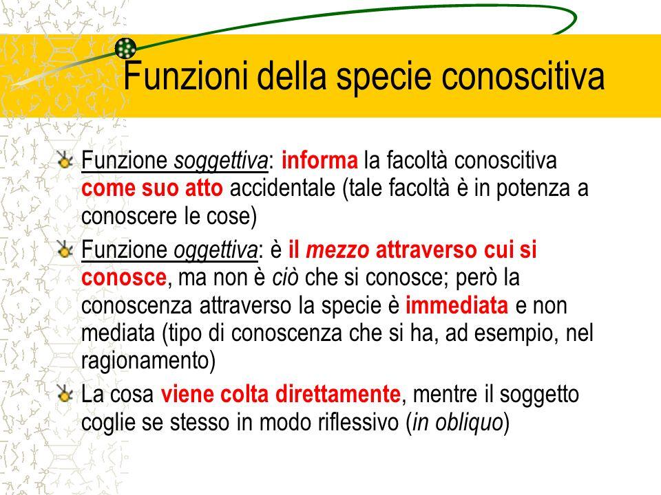 Funzioni della specie conoscitiva
