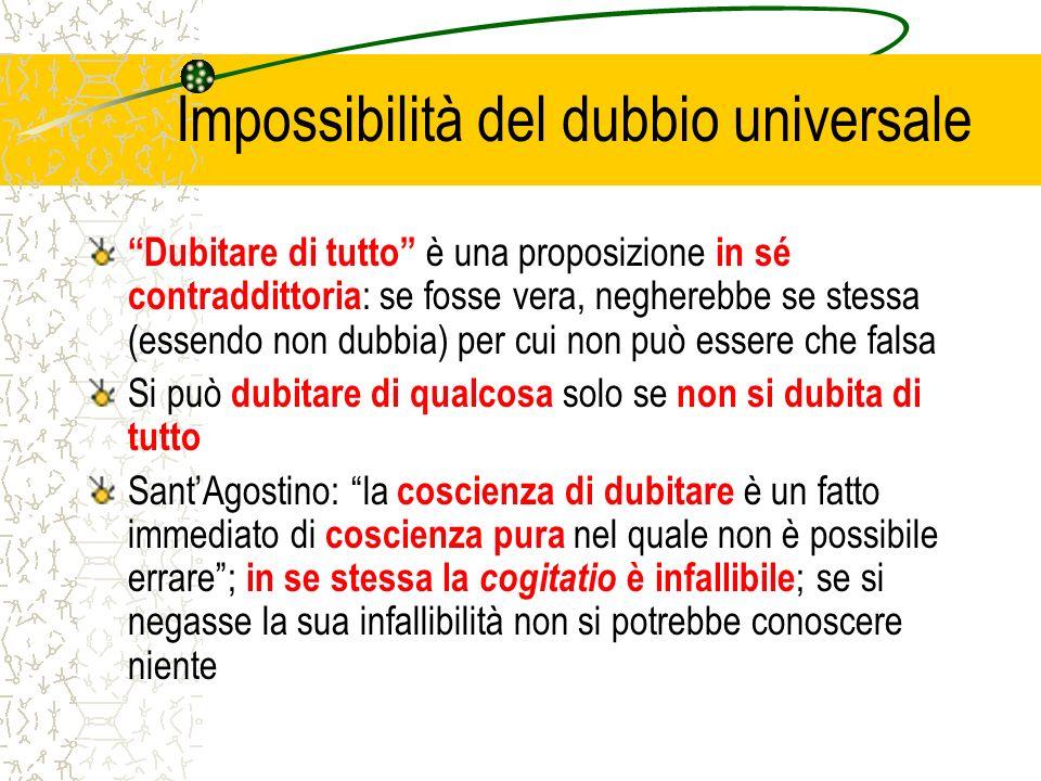 Impossibilità del dubbio universale