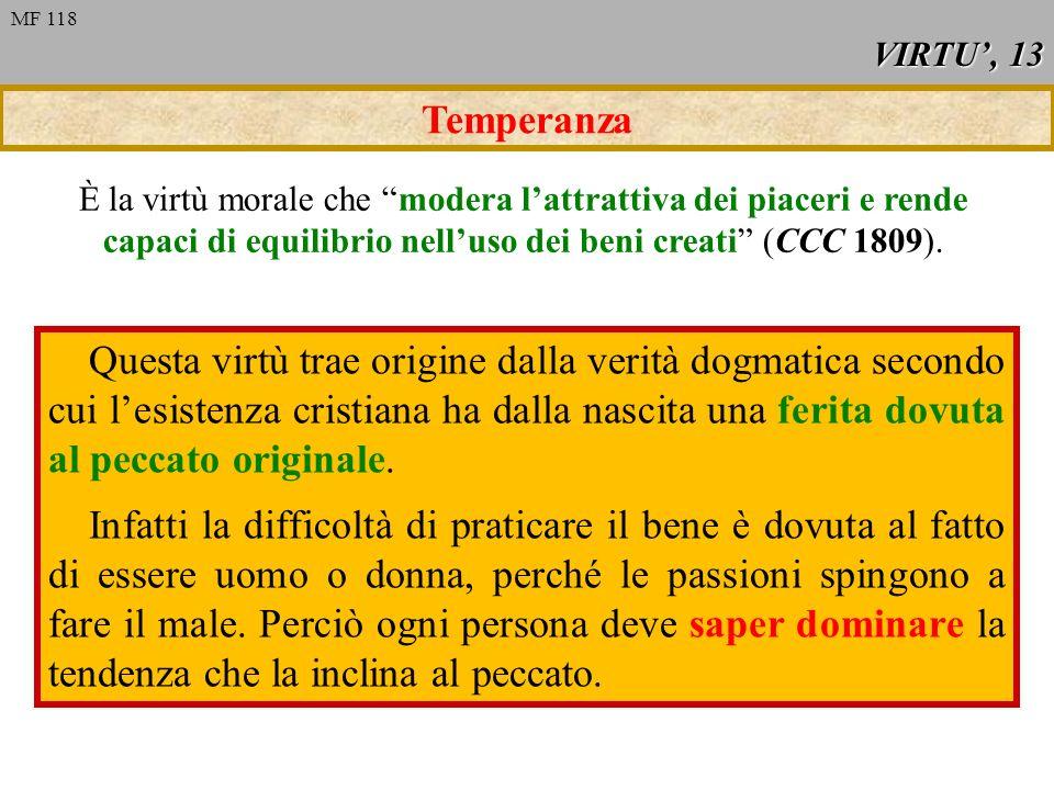 VIRTU', 13 MF 118. Temperanza.