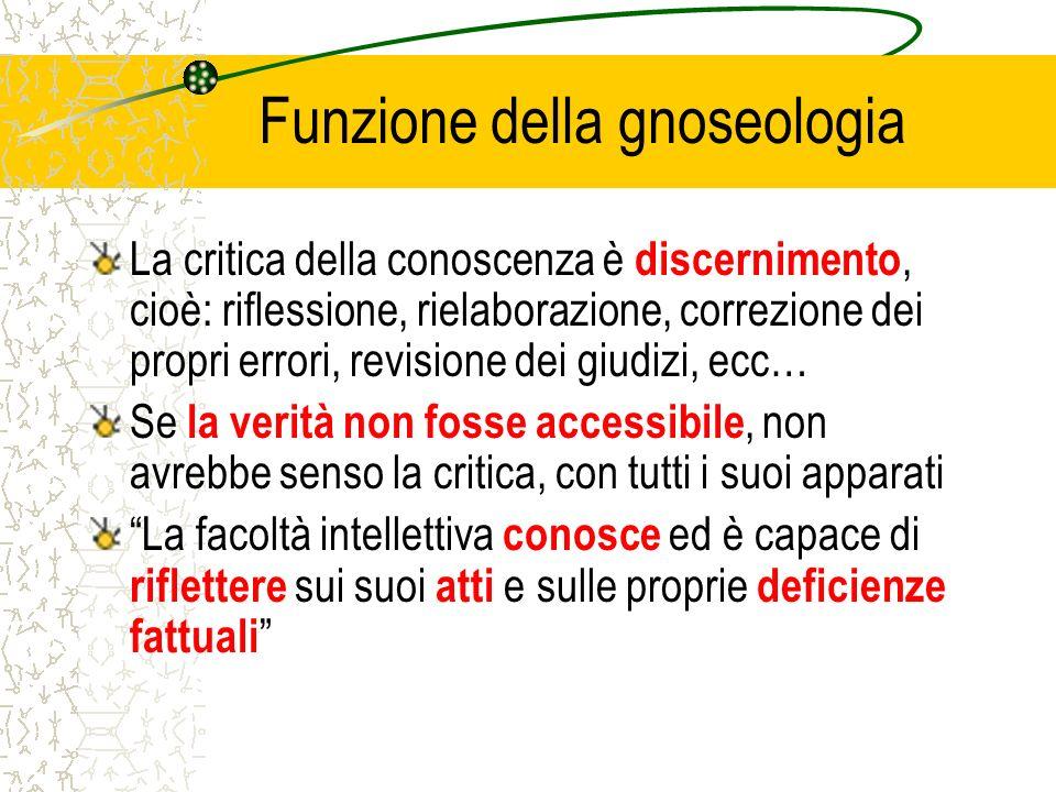 Funzione della gnoseologia