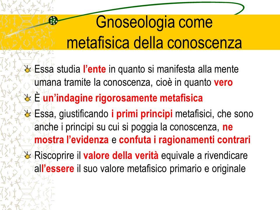 Gnoseologia come metafisica della conoscenza