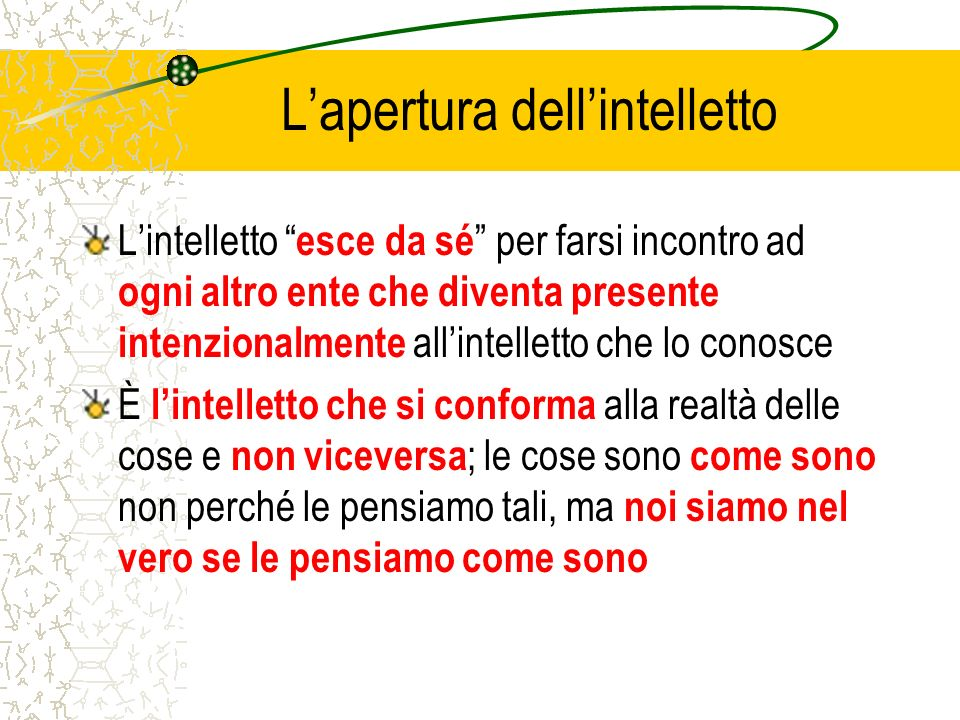 L'apertura dell'intelletto