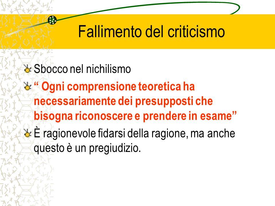 Fallimento del criticismo