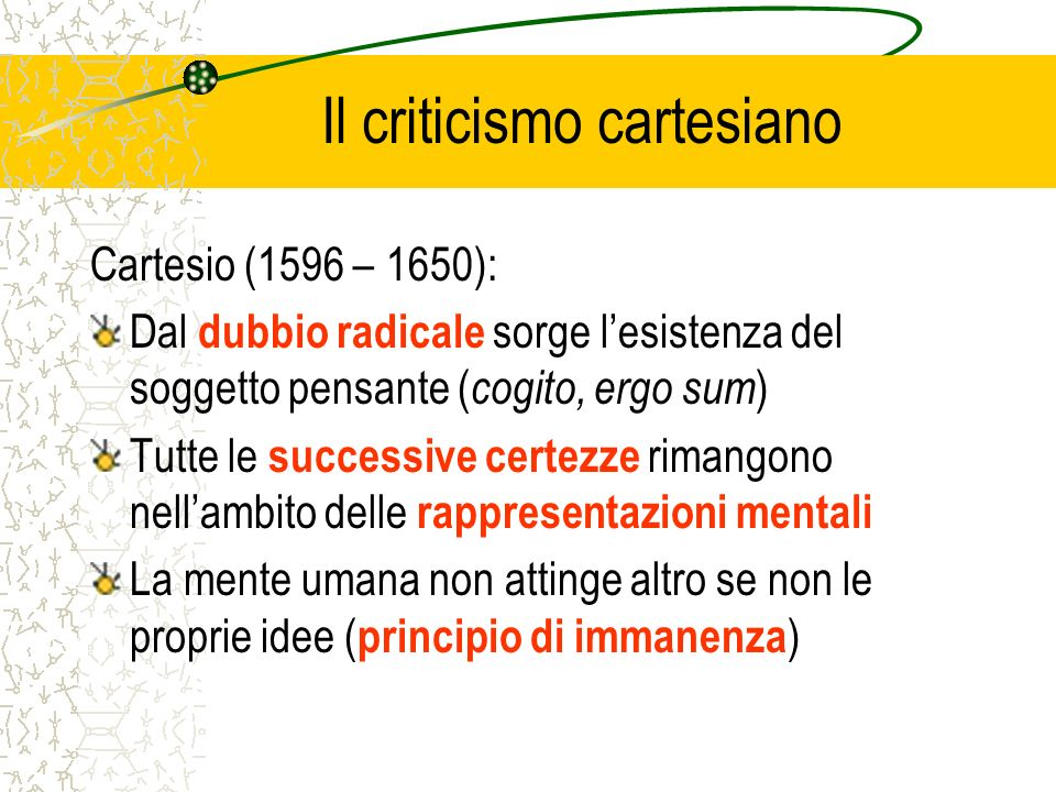 Il criticismo cartesiano