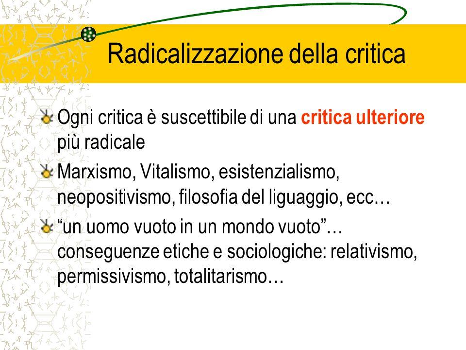 Radicalizzazione della critica