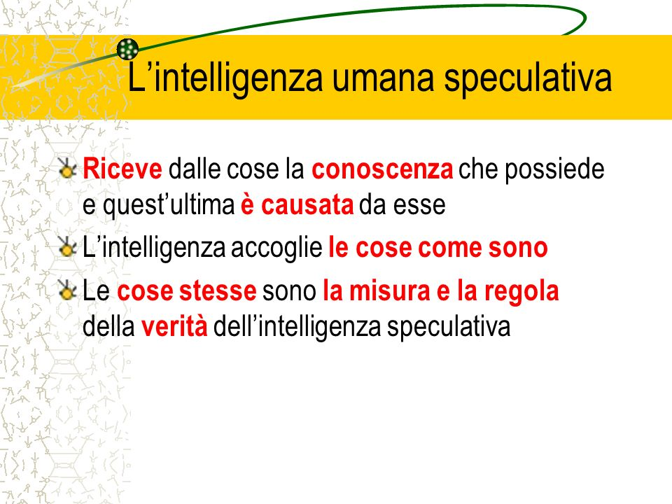 L'intelligenza umana speculativa