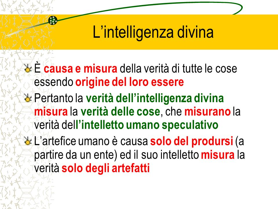 L'intelligenza divina