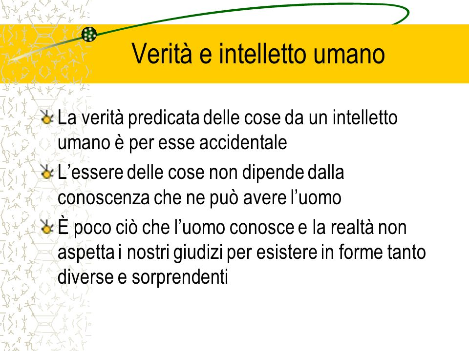 Verità e intelletto umano