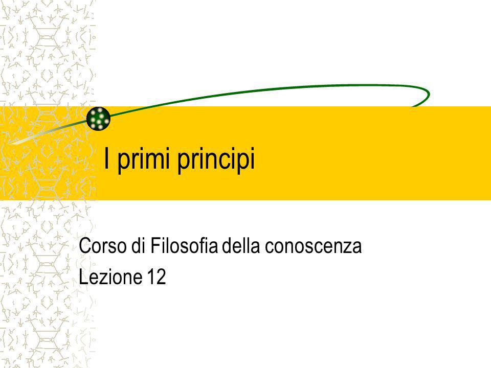 Corso di Filosofia della conoscenza Lezione 12