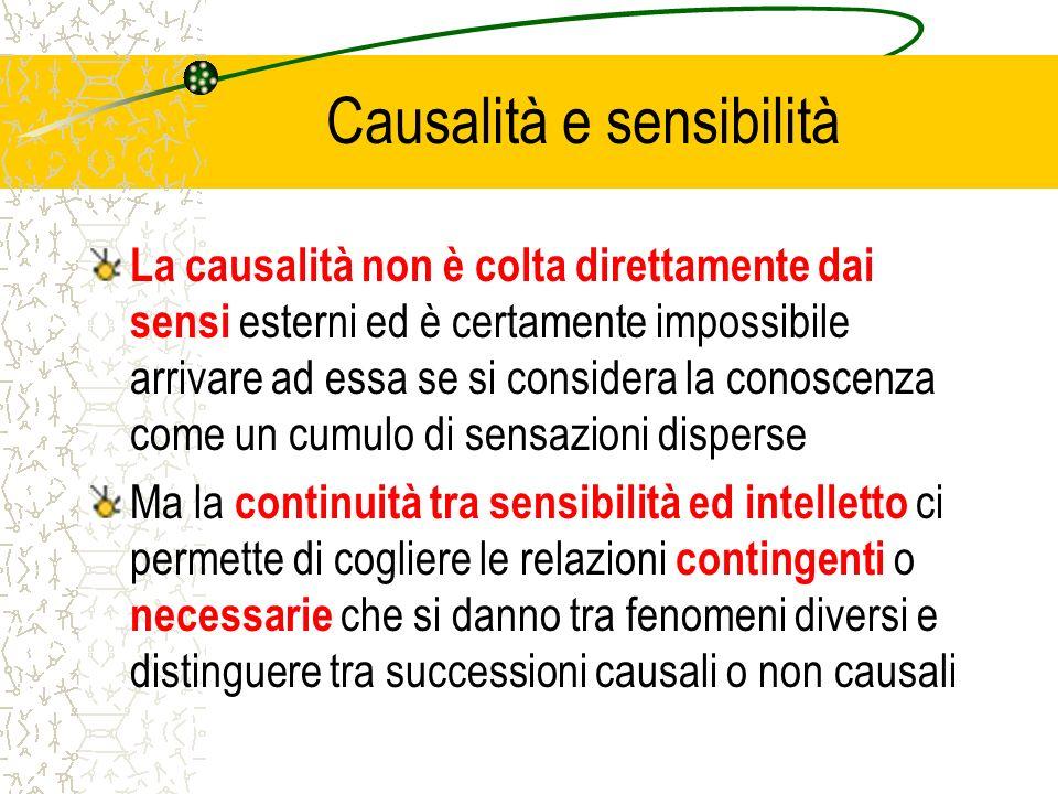 Causalità e sensibilità