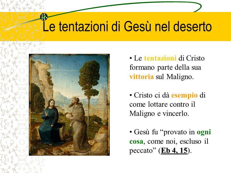 Le tentazioni di Gesù nel deserto