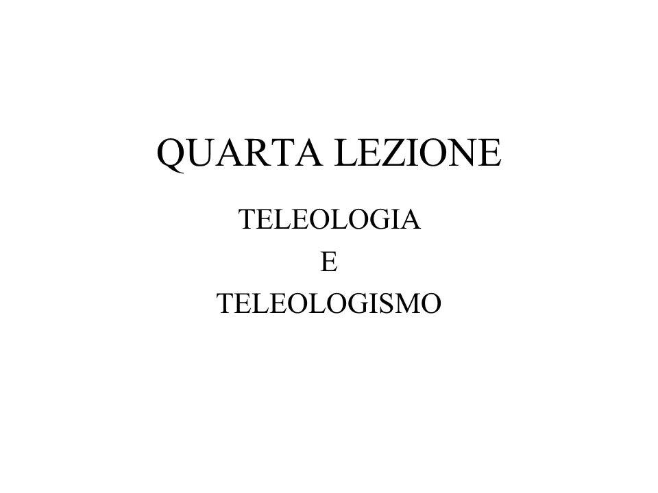 TELEOLOGIA E TELEOLOGISMO