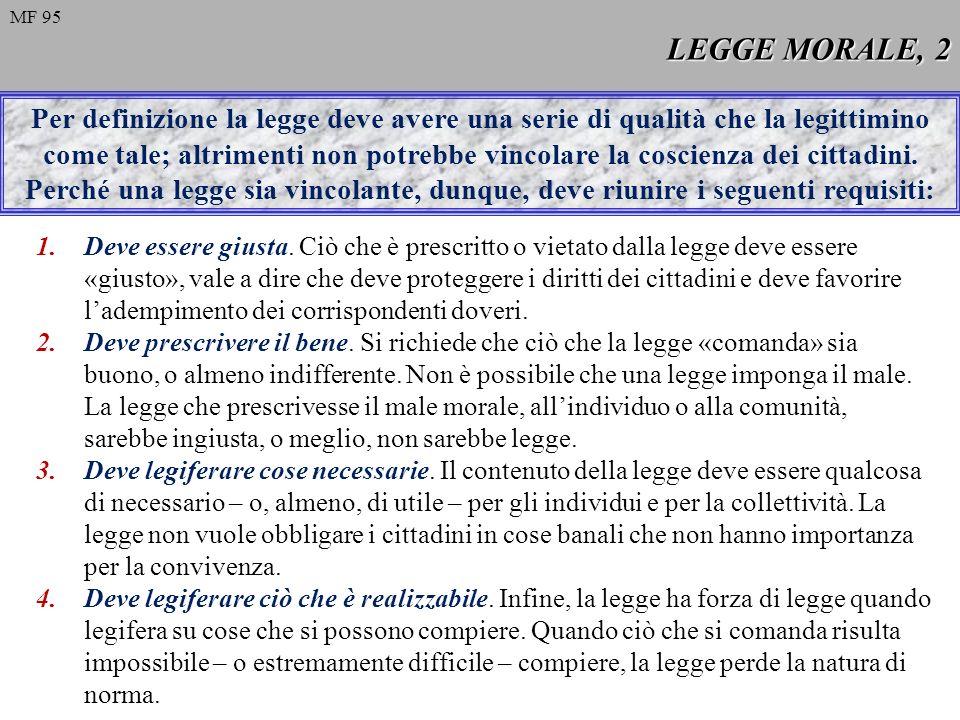 LEGGE MORALE, 2 MF 95.