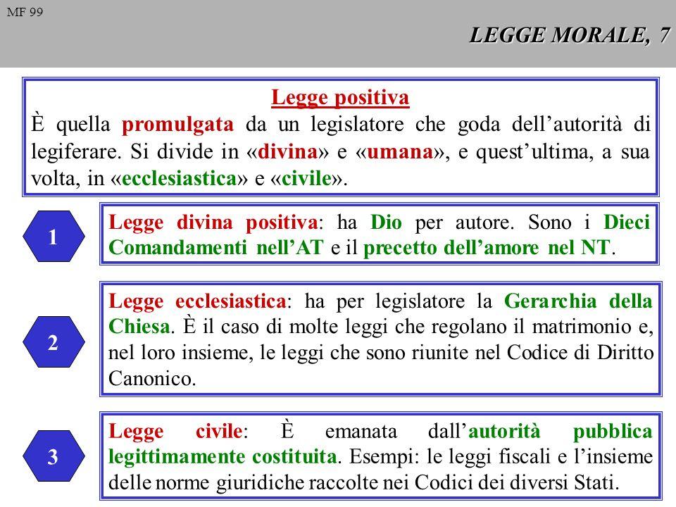 LEGGE MORALE, 7 Legge positiva