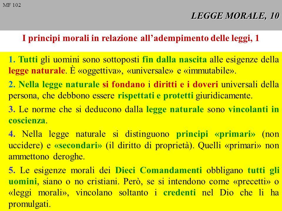 I principi morali in relazione all'adempimento delle leggi, 1