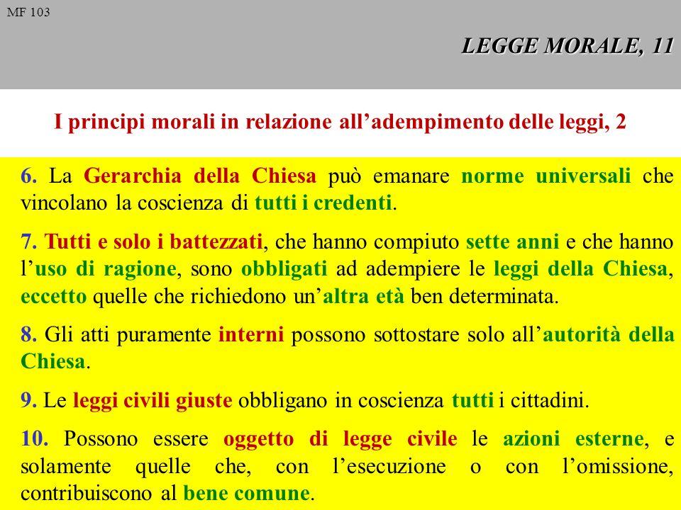 I principi morali in relazione all'adempimento delle leggi, 2