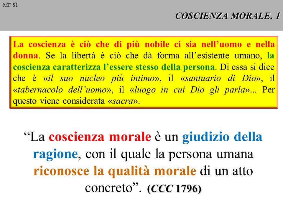 MF 81 COSCIENZA MORALE, 1.