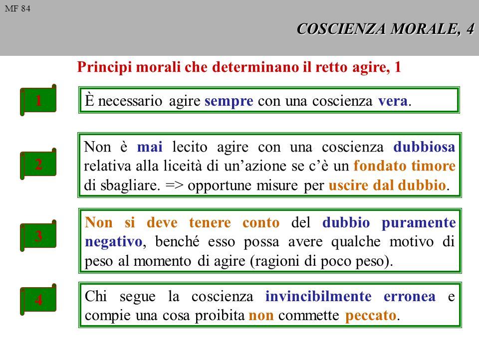 Principi morali che determinano il retto agire, 1